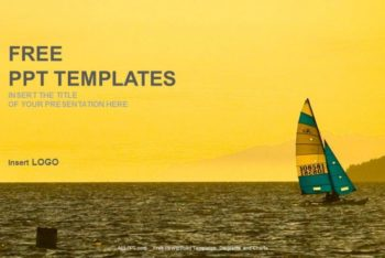 Free Sailing Boat Sports Powerpoint Template