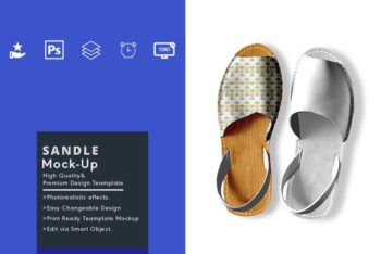 Sandal PSD Mockup for Designing Fashionable & Beautiful Sandals