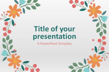 Free Spring Presentation Theme Powerpoint Template