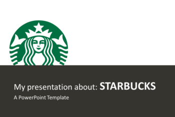 Free Starbucks Brand Theme Powerpoint Template