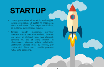 Free Startup Rocket Slides Powerpoint Template