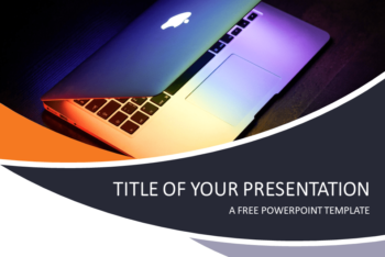 Free Computer Tech Concept Powerpoint Template