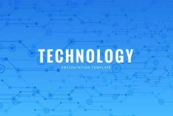 Free Modern Tech Slides Powerpoint Template
