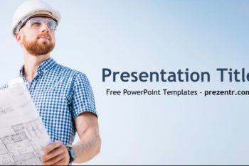Free Construction Person Concept Powerpoint Template