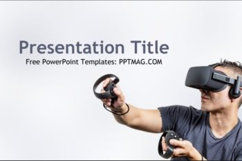 Free Virtual Reality Tech Powerpoint Template