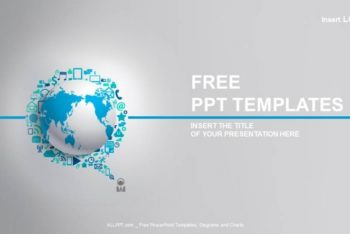 Free Electronic Connected Globe Powerpoint Template