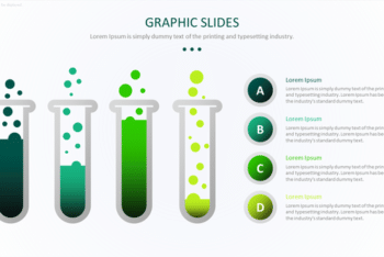 Free Science Graph Vector Powerpoint Template