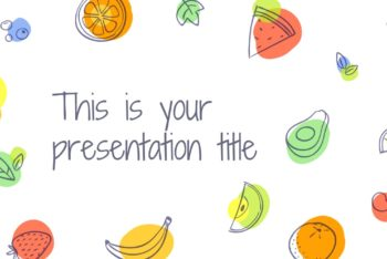 Free Summer Fruit Doodles Powerpoint Template