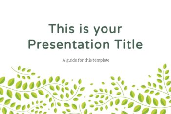 Free Greenery Theme Slides Powerpoint Template