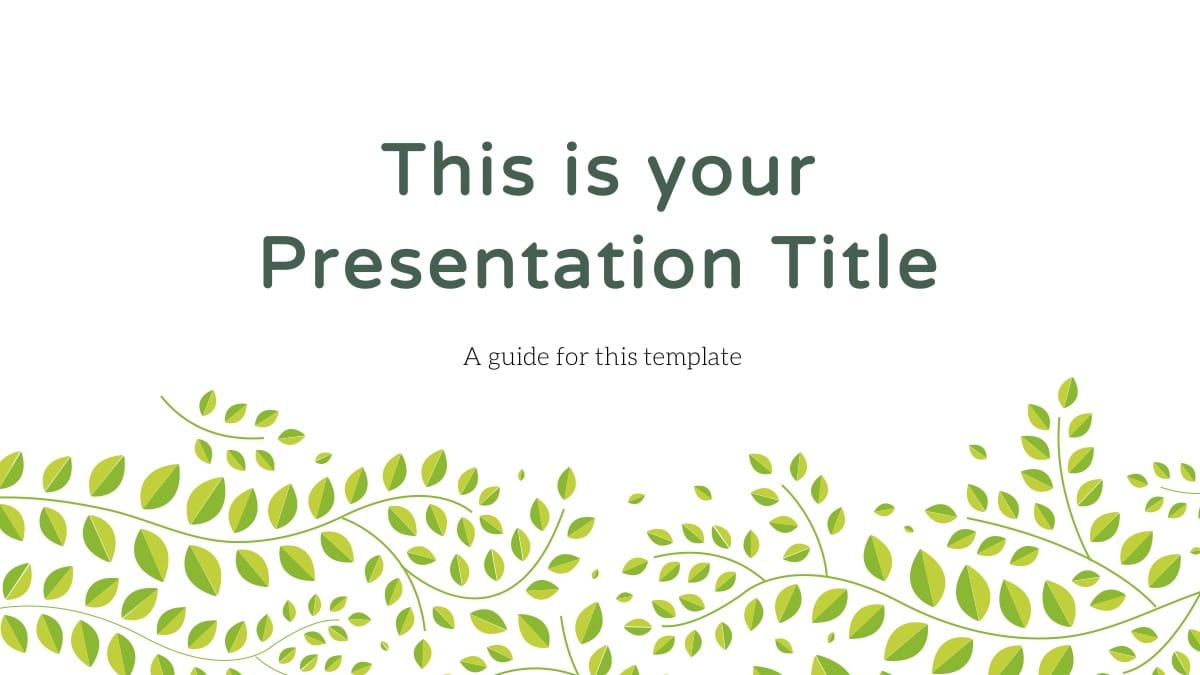 Greenery Theme Slides
