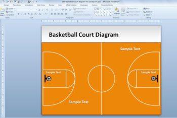 Free Basketball Court Slide Powerpoint Template