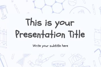 Free Scientific Theme Slides Powerpoint Template