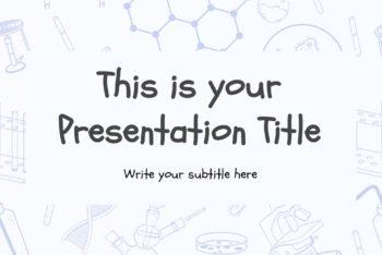 Free Scientific Theme Slides Powerpoint Template