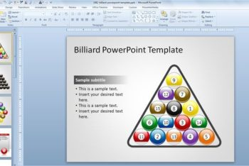Free Billiard Lesson Slides Powerpoint Template