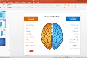 Free Brain Power Concept Powerpoint Template