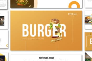 Free Special Tasty Burger Powerpoint Template