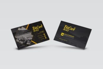 Photorealistic Business Card PSD Mockup – Available in High Resolution