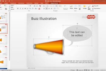 Free Buzz Words Marketing Powerpoint Template