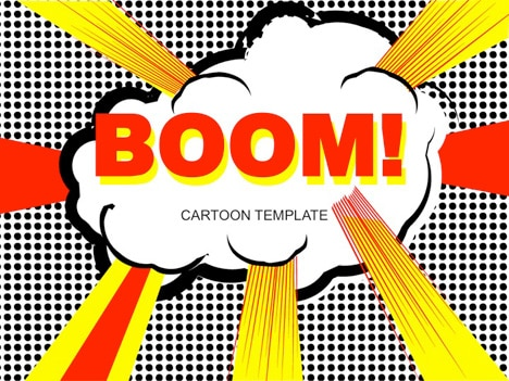 Free Cartoon Pop Art Powerpoint Template Designhooks