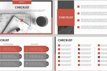 Free Digital Checklist Slides Powerpoint Template