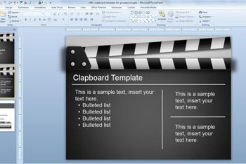 Free Film Clapboard Concept Powerpoint Template