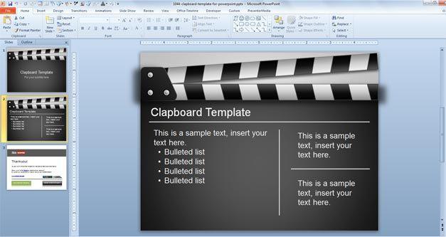 Film Clapboard Concept