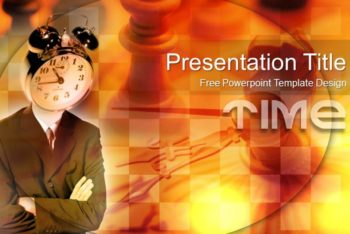 Free Alarm Clock Concept Powerpoint Template