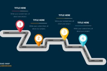 Free Colorful Roadmap Slide Powerpoint Template
