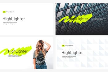 Free Company Report Highlight Powerpoint Template