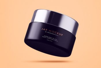 Cosmetic Cream Container PSD Mockup for Free