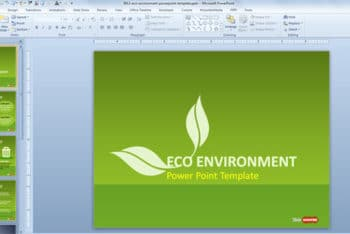 Free Green Energy Concept Powerpoint Template