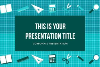 Free School Supplies Concept Powerpoint Template