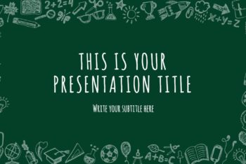 Free School Stuff Theme Powerpoint Template