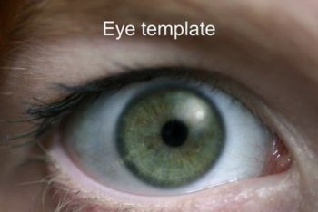 Free Eye Closeup Slides Powerpoint Template