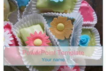 Free Flower Cake Designs Powerpoint Template