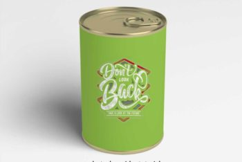 Free Can Label PSD Mockup for Designing Eye-catchy Can Labels Easily