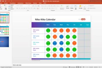 Free Mood Calendar Slides Powerpoint Template