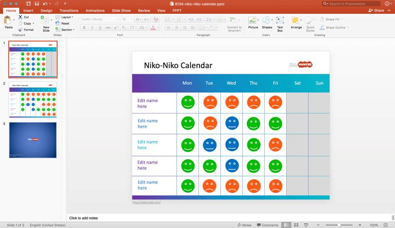 Mood Calendar Slides