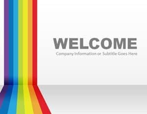 Free Rainbow Graphic Slide Powerpoint Template