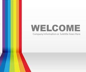 Rainbow Graphic Slide