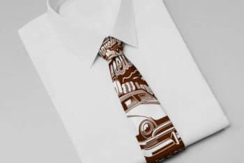Shirt-Tie PSD Mockup for Creating Wonderful Apparel Design Presentation