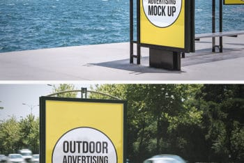 Create Beautiful Outdoor Advertising  with This Mockup