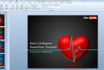 Free Heart Cardiogram Slide Powerpoint Template