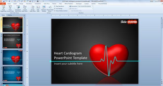 Heart Cardiogram Slide