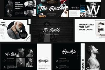 Free Hipster Style Slides Powerpoint Template
