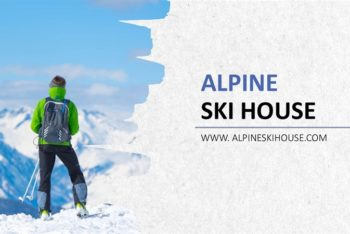 Free Winter Ski Scene Powerpoint Template
