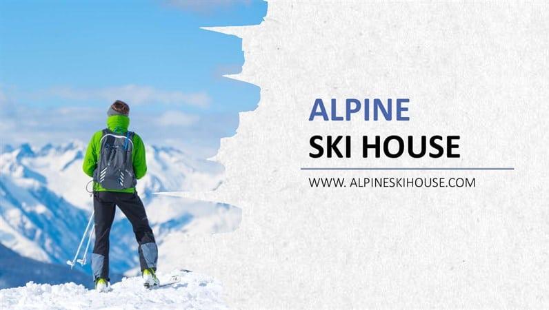 Winter Ski Scene
