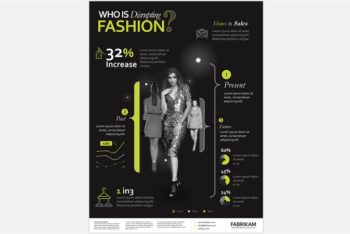 Free Fashion Infograph Slides Powerpoint Template