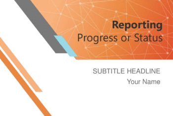 Free Project Progress Report Powerpoint Template