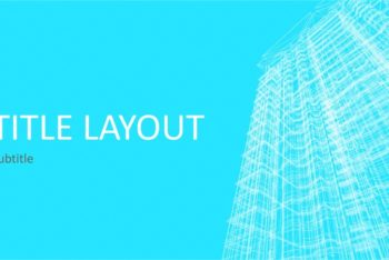 Free Modern Business Wireframe Powerpoint Template